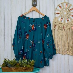 Pure Energy Tops - Pure Energy Floral Button Down Blouse Q14